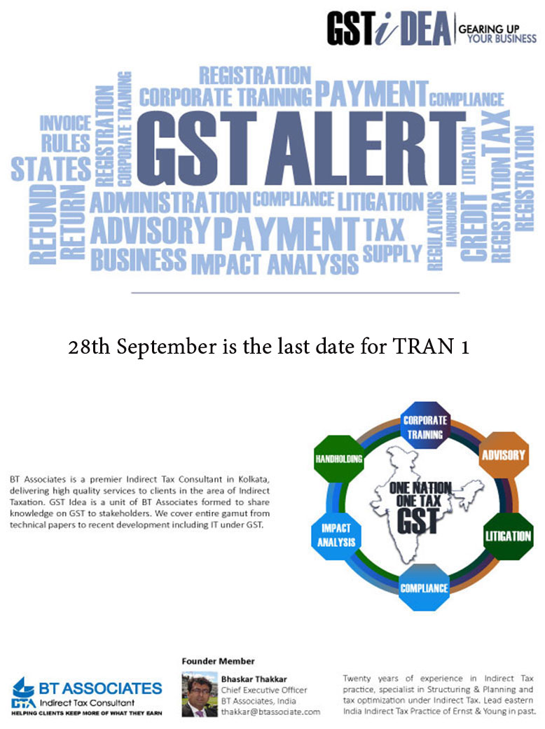 28th September is the last date for TRAN 1