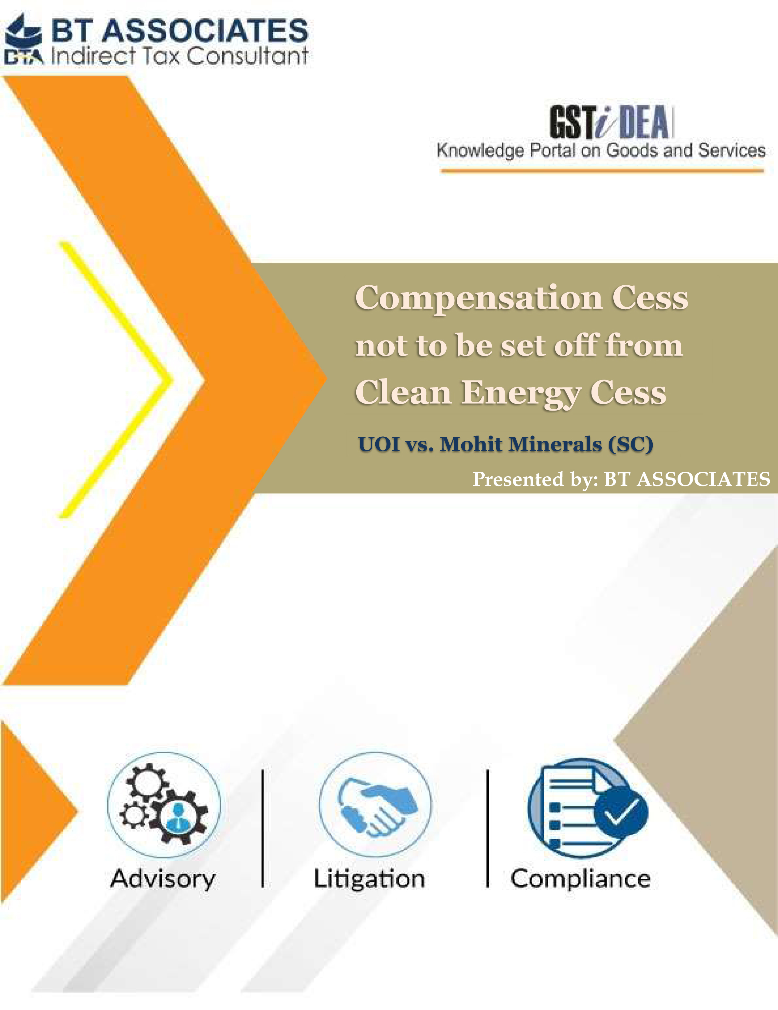 Compensation Cess not to be set off from Clean Energy Cess